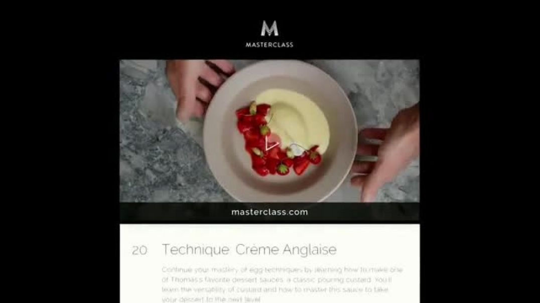 MasterClass TV Commercial Thomas Keller Teaches Cooking Techniques