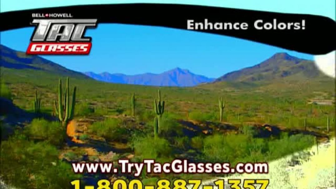 Bell + Howell Tac Glasses TV Commercial No Ordinary Sunglasses