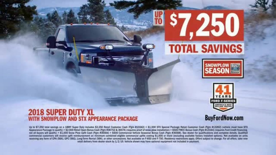 Ford Snowplow Season TV Commercial We Own Winter  TV Commercial - TVCAD