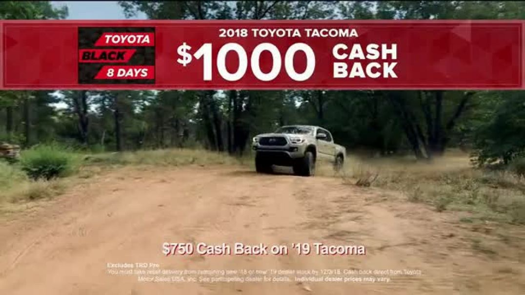 Toyota Black 8 Days TV Commercial Extraordinary Deals  TV Commercial - TVCAD