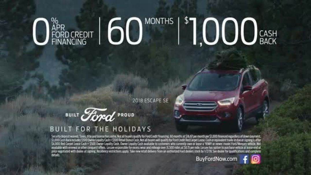 Ford Built for the Holidays Sales Event TV Commercial Tree Cutting  Commercial - TVCAD