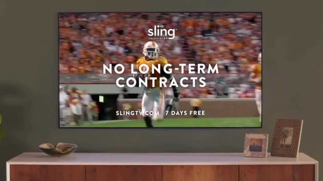 Sling TV Commercial Ad Statue Featuring Nick Offerman Megan Mullally Commercial -TVCommercialAd.c