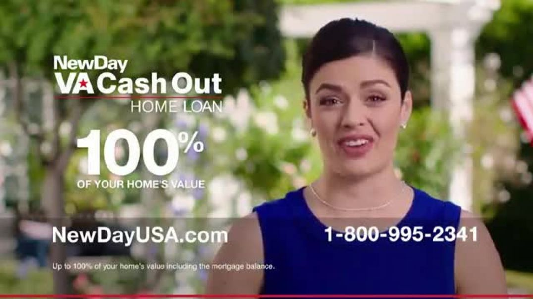 NewDay USA VA Cash Out Home Loan New TV Advert Home Values are Rising Commercial