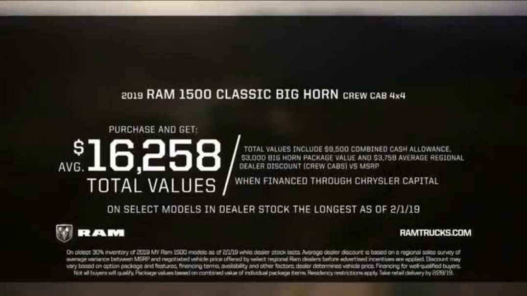 Ram Truck Month TV Commercials Deals Like No Other Commercial 2019 Song by A Thousand Horses