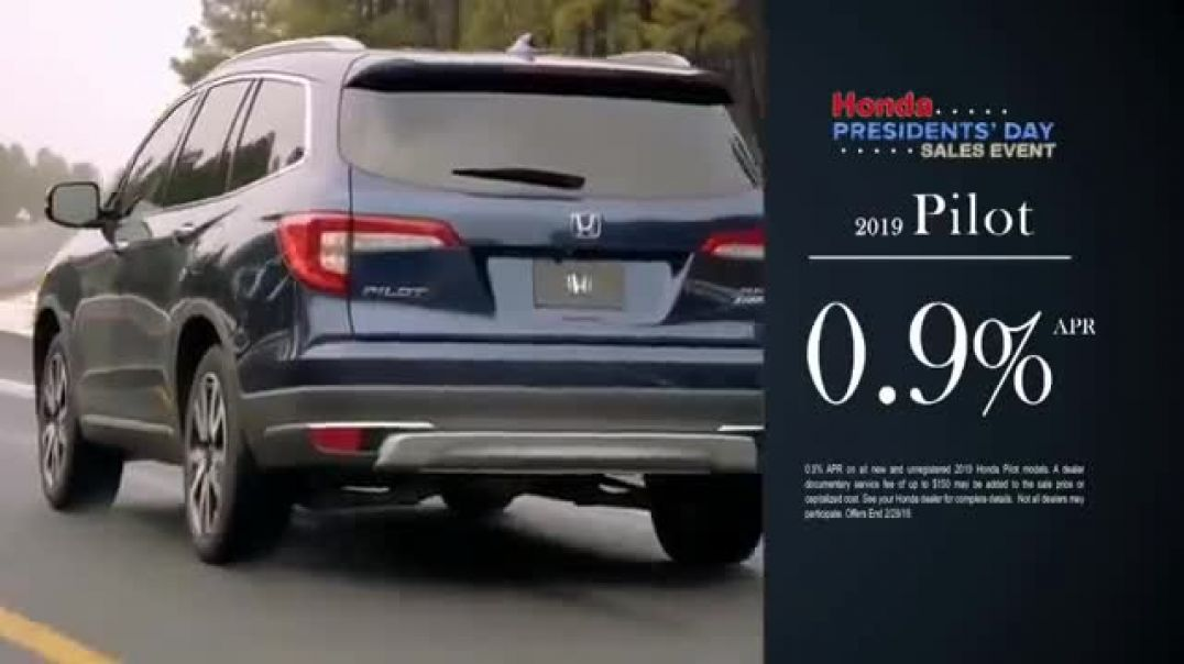 Honda Presidents Day Sales Event TV Commercials Commanding Offers Commercial