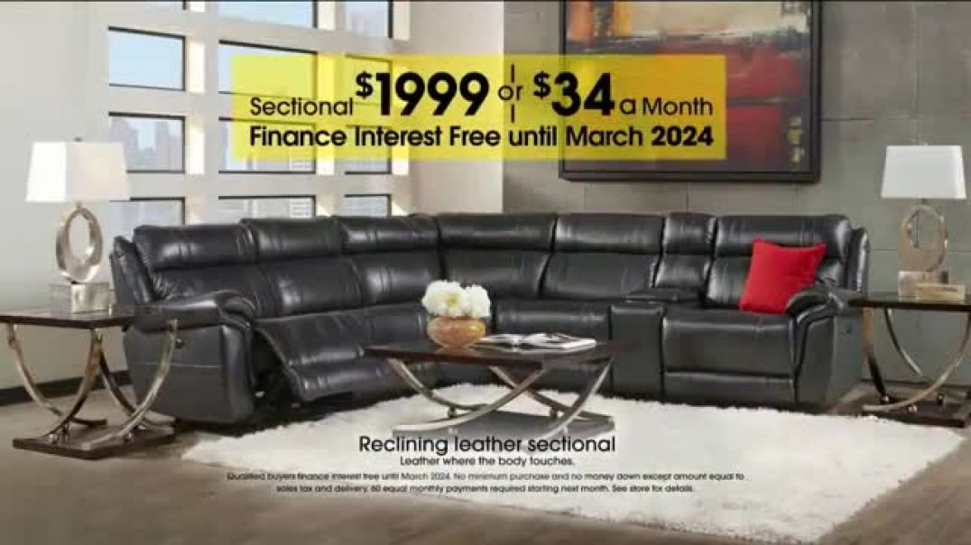Rooms to Go Anniversary Sale Reclining Leather Sectional Commercial 2019