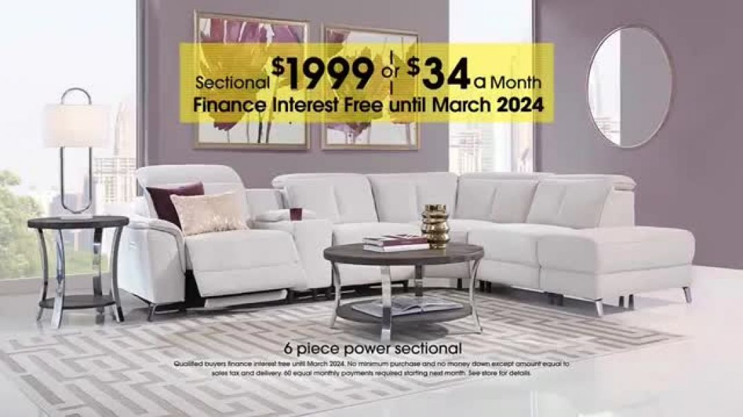 Rooms to Go Anniversary Sale Dual Power Reclining Sectional Commercial 2019