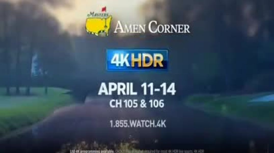 DIRECTV 4K HDR TV Commercial Ad 2019 The Masters Commercial 2019