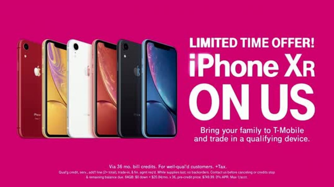 TMobile TV Commercial Ad TRex Free iPhone XR Commercial 2019