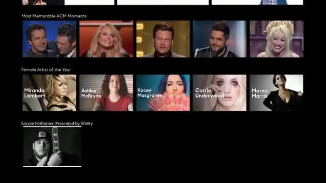 XFINITY On Demand TV Commercial Ad 2019 ACM Awards Commercial 2019
