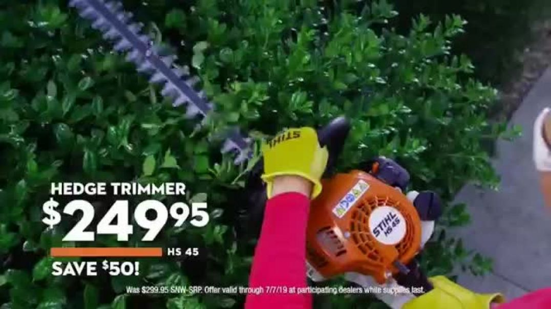 STIHL TV Commercial ad Real People Hedge Trimmer & Grass Trimmer Commercial 2019