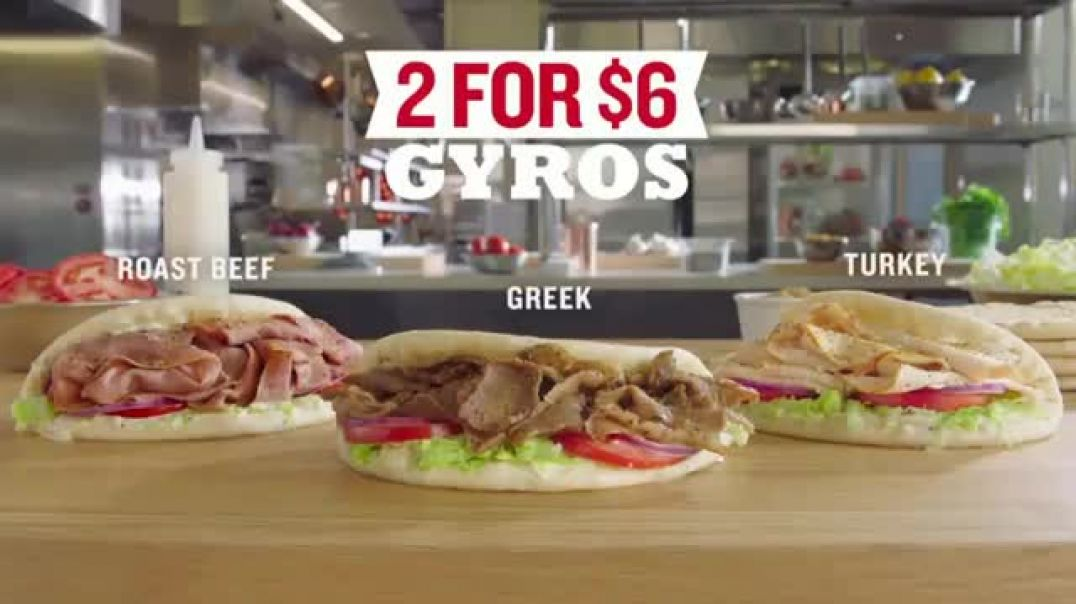 Arbys 2 for $6 Gyros TV Commercial Ad Passion Featuring H  Jon Bejamin Song by YOGI Commercial 2019