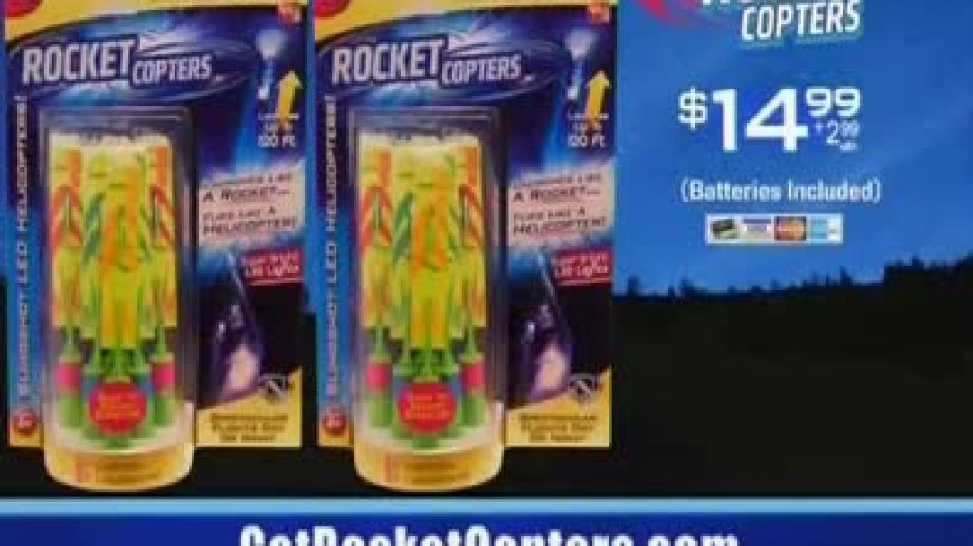 Rocket Copters TV Commercial ad Two SixPiece Sets Commercial 2019