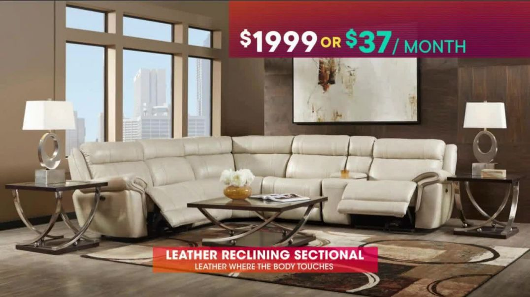 Rooms to Go TV Commercial Ad July 4th Hot Buys Leather Reclining Sectional Commercial 2019