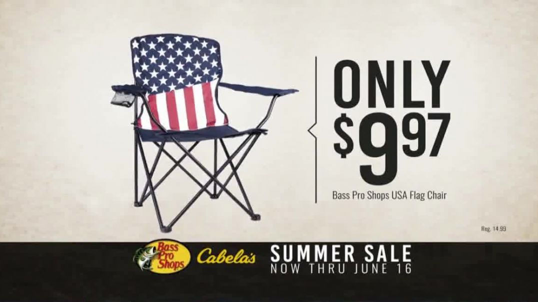 Bass Pro Shops Star Spangled Summer Sale TV Commercial Ad Flag Chairs and Tailgate Toss Commercial