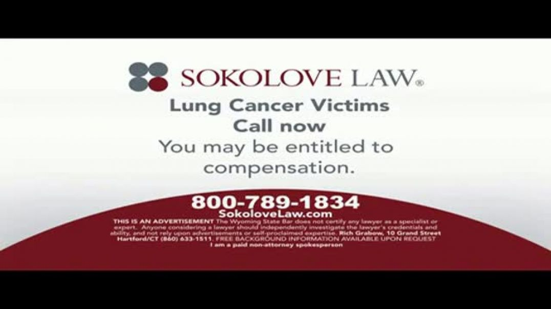 Watch Sokolove Law Commercial Lung Cancer Asbestos Exposure TV Commercial Ad
