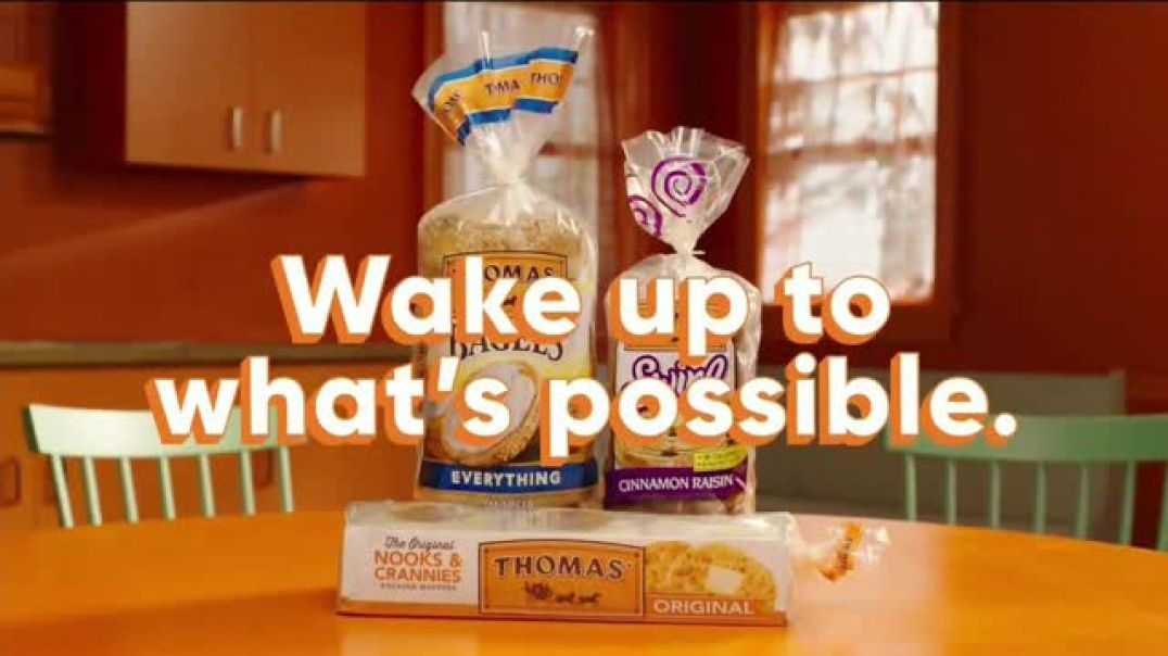 Watch Thomas Everything Bagel Commercial Alarm Clock TV Commercial Ad