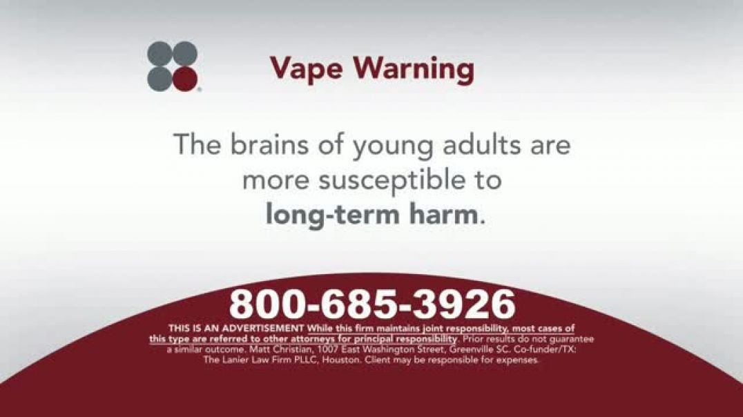 Watch Sokolove Law  Commercial Vape TV Commercial Ad