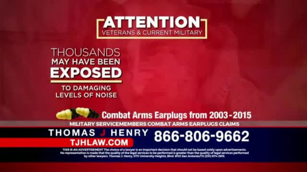 Watch Thomas J. Henry Injury Attorneys  Commercial Combat Arms Earplugs TV Commercial Ad