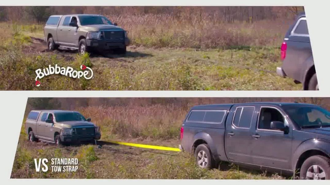 Watch Bubba Rope Power Stretch TV Commercial Ad, Stuck Truck