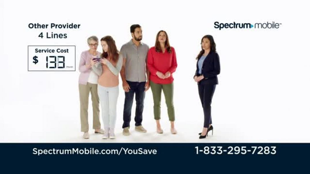 Watch Spectrum Mobile TV Commercial Ad, Jones Family Customize Your Plan