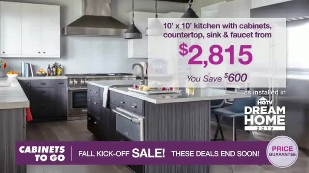 Watch Cabinets To Go Fall KickOff Sale TV Commercial Ad, Save Even More