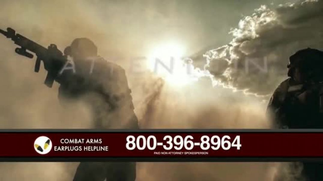 Watch Combat Arms Earplugs Legal Helpline TV Commercial Ad, Veterans and Active Duty Military