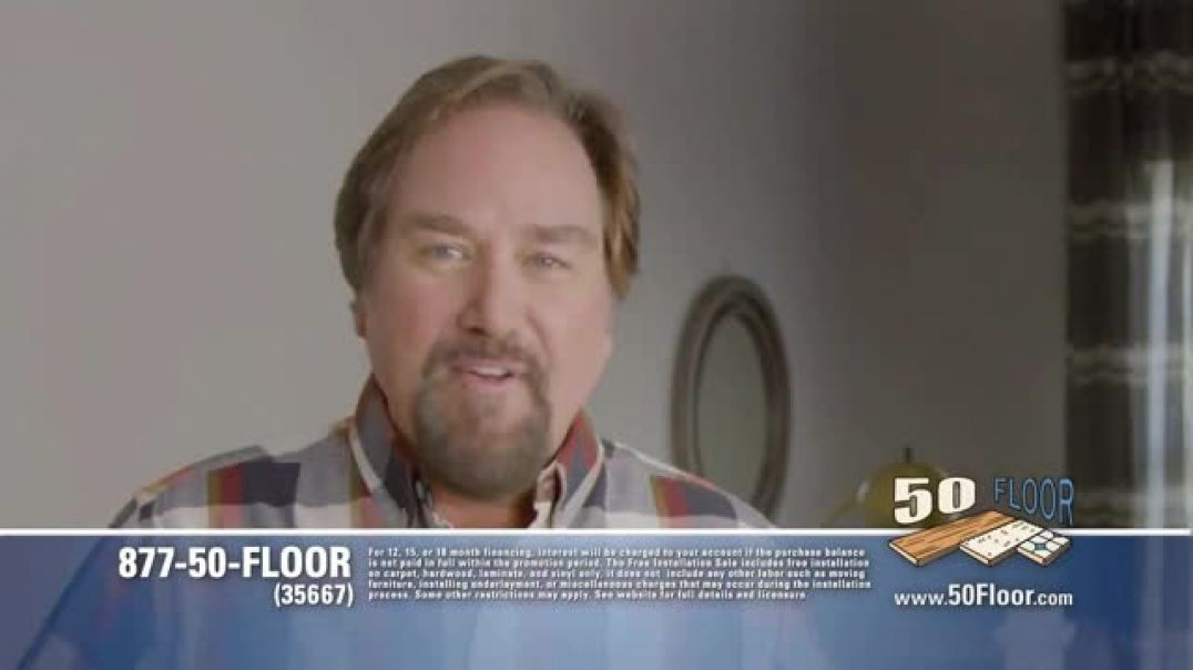 Watch 50 Floor TV Commercial Ad, Upgrade Your Home Fast Featuring Richard Karn