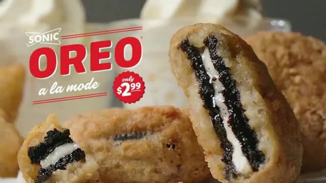 Watch Sonic DriveIn Oreo A La Mode TV Commercial Ad, Together at Last