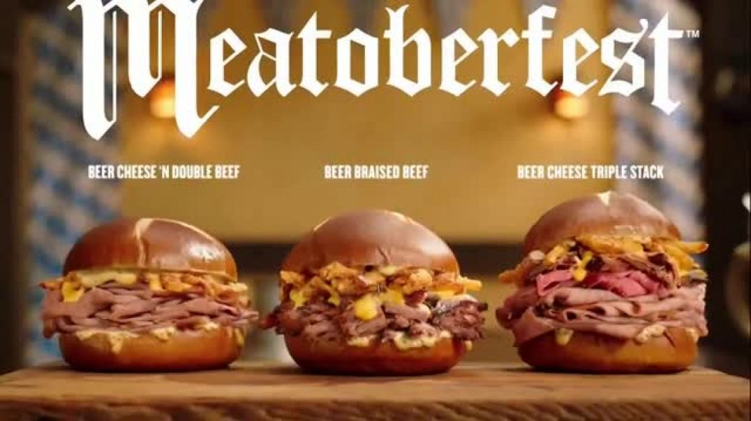 Watch Arbys Meatoberfest TV Commercial Ad, Sandwich Celebration Song by YOGI