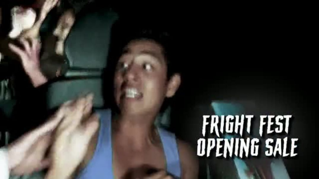 Watch Six Flags Fright Fest Opening Sale TV Commercial Ad, Take Your Fear for a Ride