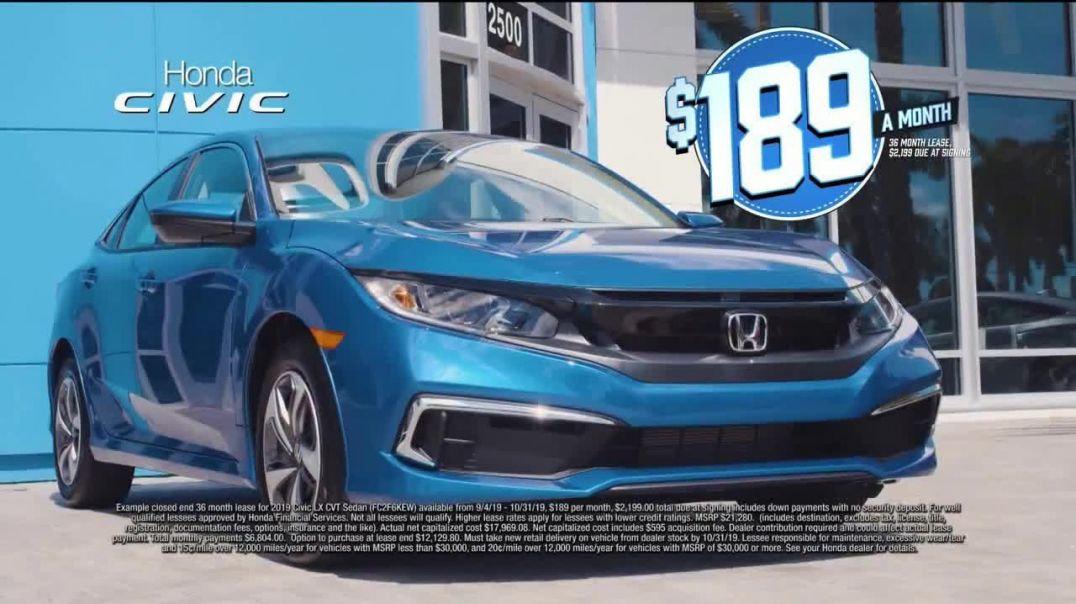 Watch Honda Model Year End Sale TV Commercial Ad, Most Wanted Car Civic