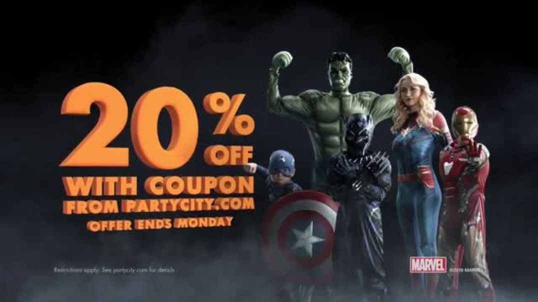 Watch Party City TV Commercial Ad, Halloween 20 Percent Off