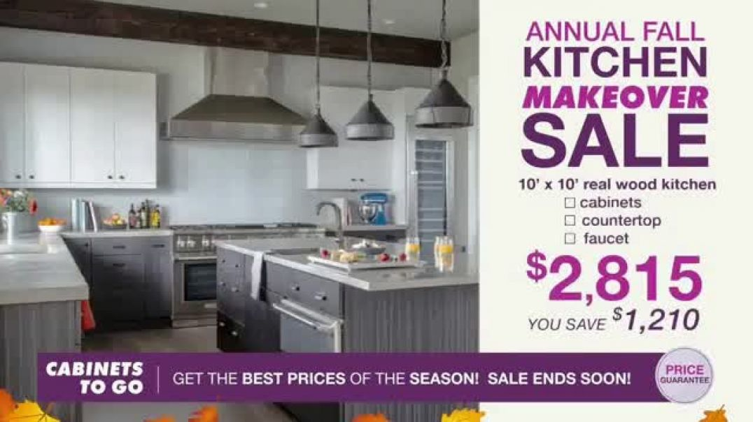 Watch Cabinets To Go Annual Kitchen Makeover Sale TV Commercial Ad, Styles and Value