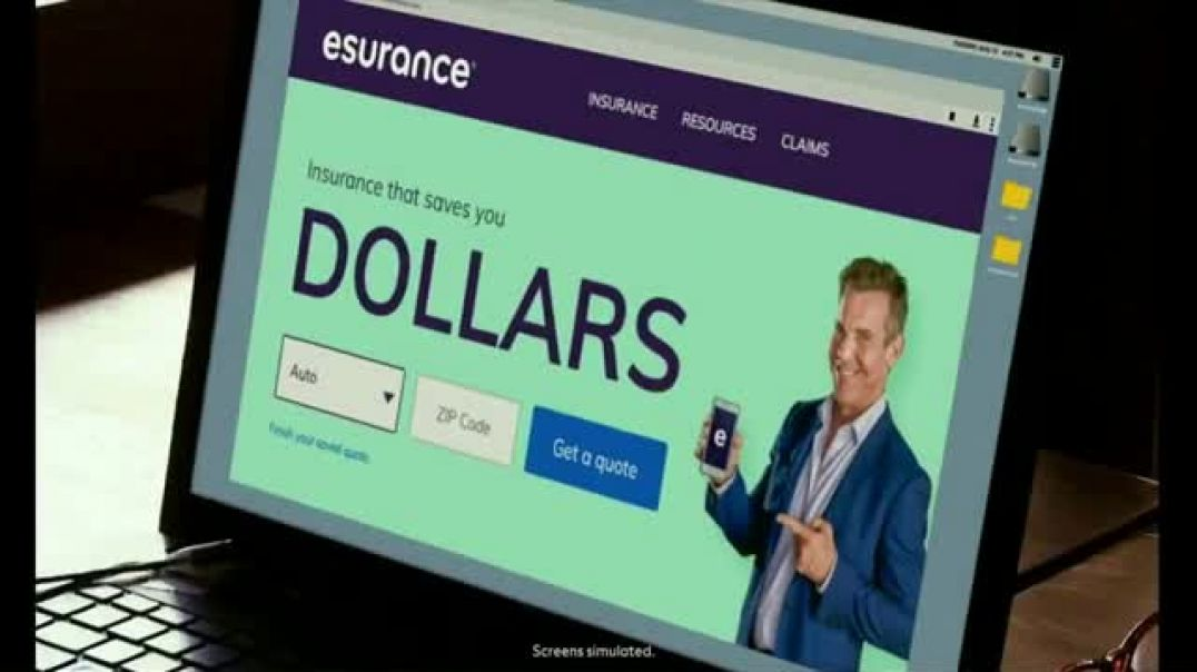 Watch Esurance TV Commercial Ad, Dollars Talking Lizard.mp4