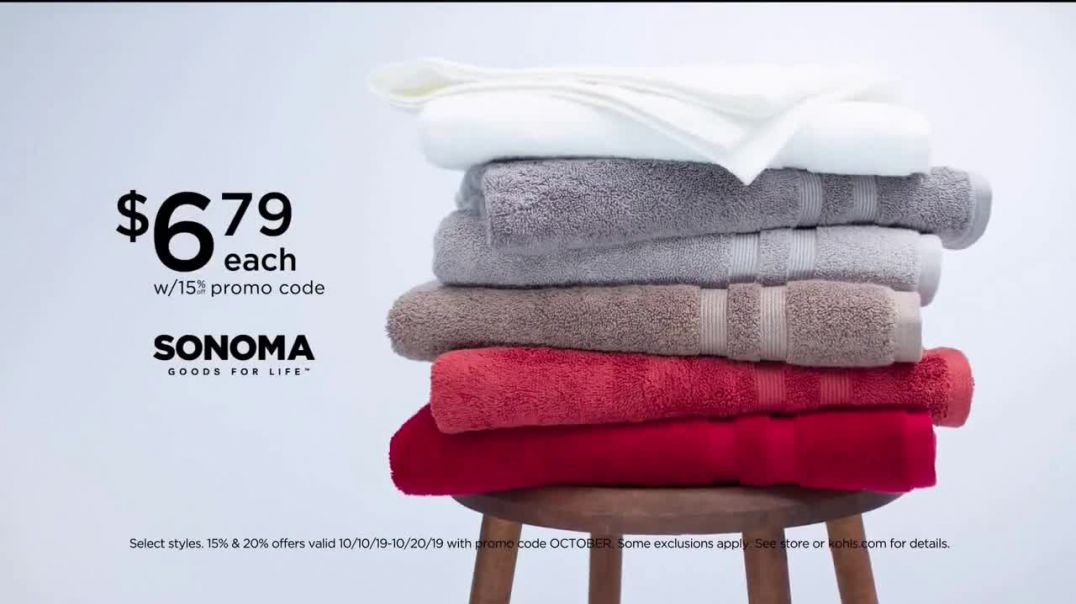 Watch Kohls Home Sale TV Commercial Ad, Bath Towels and Coffee Maker Take Extra $20 Off.mp4