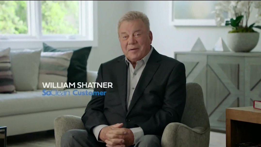 Watch SoClean TV Commercial Ad, Healthy Sleep Every Night $50 Off Featuring William Shatner.mp4 TV C