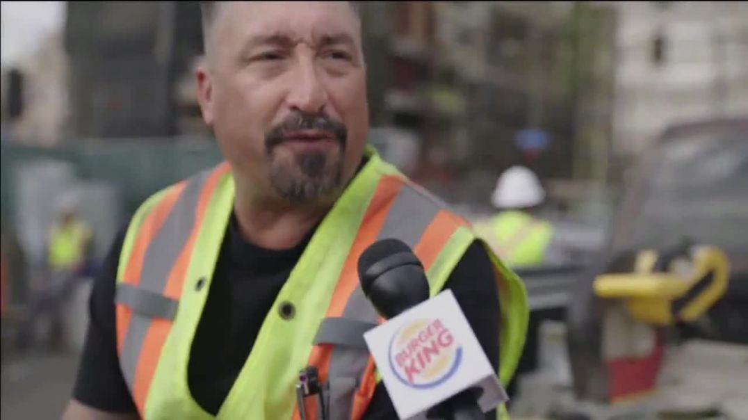 Watch Burger King Impossible Whopper TV Commercial Ad, Uber Eats Construction Workers