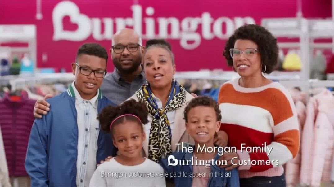 Watch Burlington TV Commercial Ad, The Morgan Family Saves Big on Cold Weather Essentials