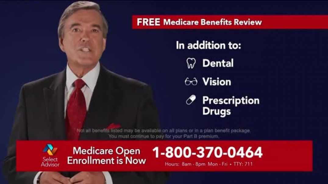 Watch Select Advisor 2019 Fall Open Enrollment TV Commercial Ad, Free Medicare Benefits Review