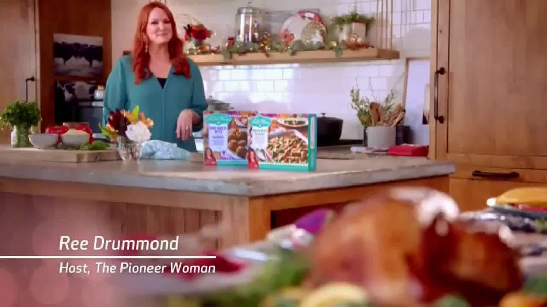 Watch The Pioneer Woman Frozen Meals TV Commercial Ad, Goat Cheese Bites and Green Bean Casserole Fe