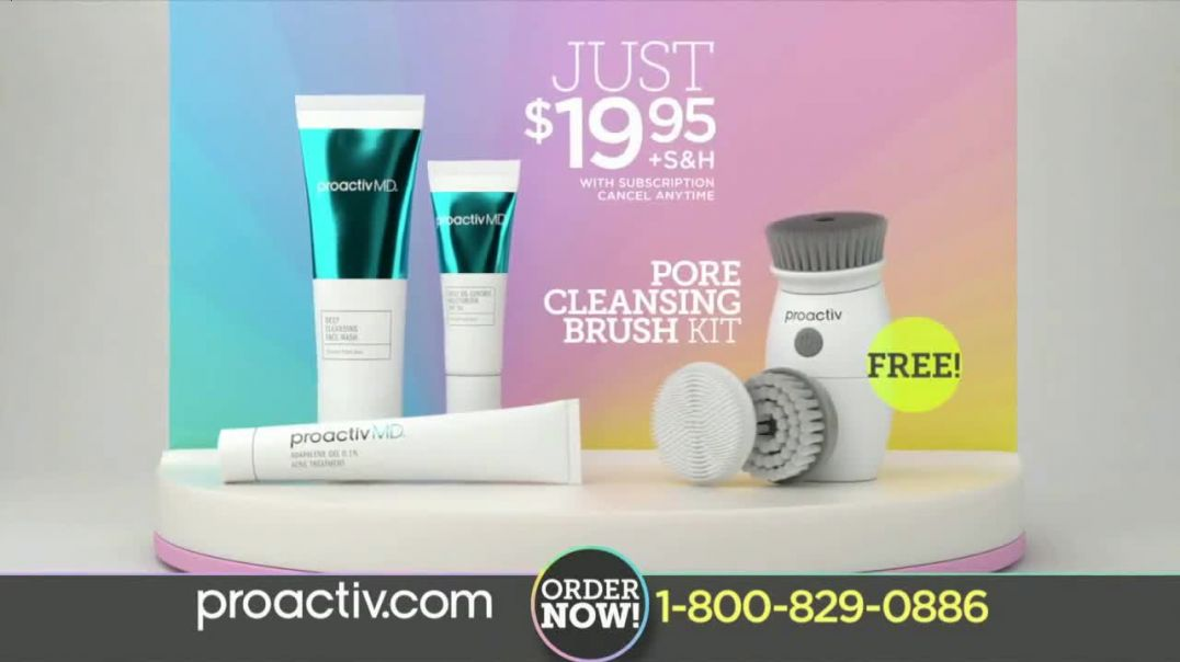 Watch ProactivMD TV Commercial Ad, Free Pore Cleansing Brush
