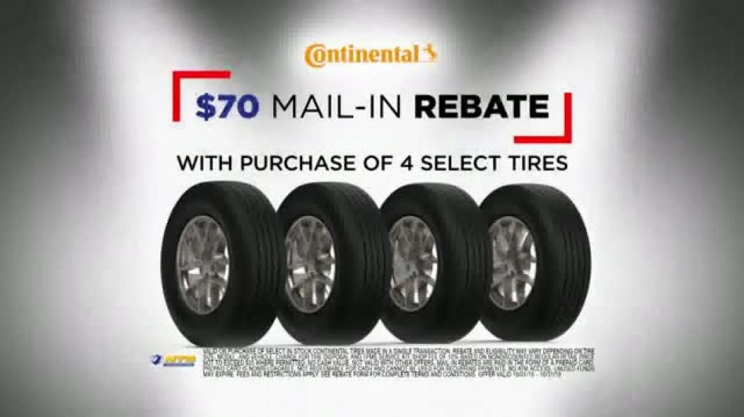 Watch National Tire & Battery Big Brands Bonus Month TV Commercial Ad, Continental Rebat