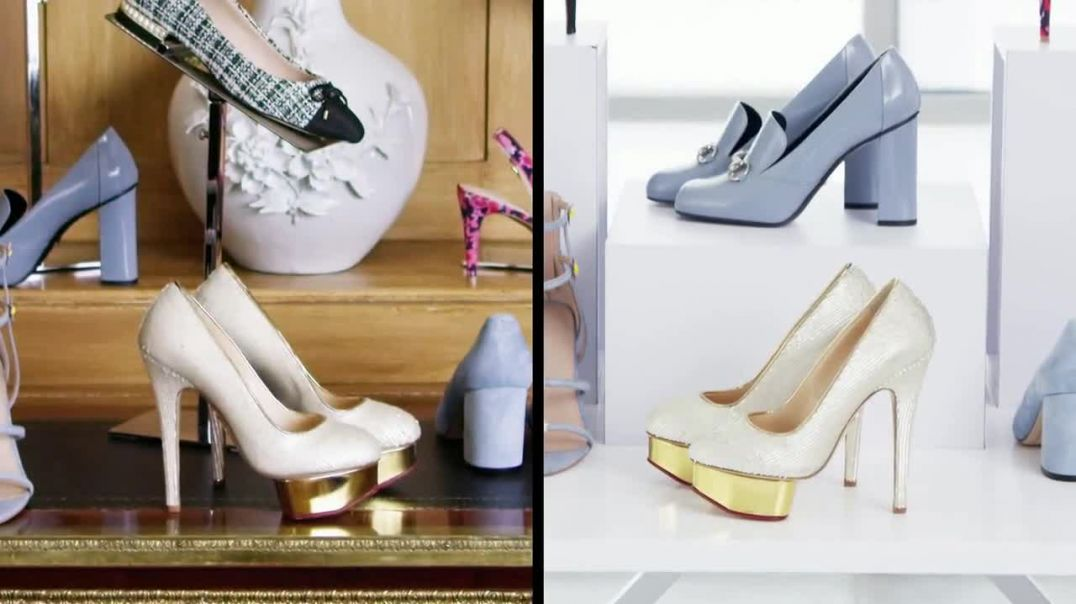 Watch Century 21 Stores TV Commercial Ad, Who Bought It Best Platform Pumps Song by Chair Model