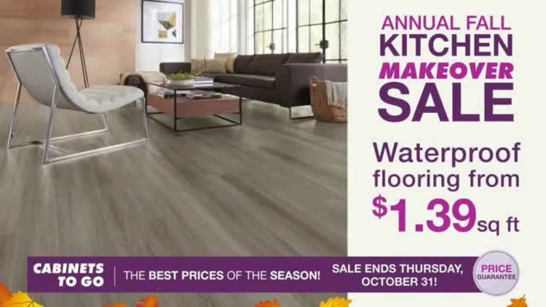 Watch Cabinets To Go Annual Fall Kitchen Makeover Sale TV Commercial Ad, Ends Thursday