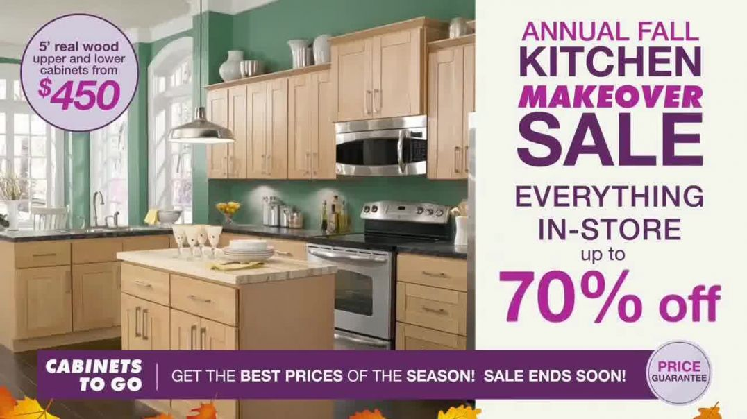 Cabinets To Go Annual Fall Kitchen Makeover Sale TV Commercial Ad, Up to 70 Percent Off.mp4