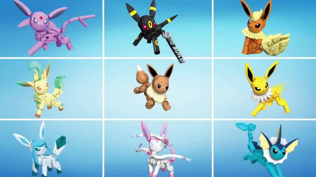 Mega Construx Pokemon Every Eevee Evolution TV Commercial Ad, Build and Battle.mp4