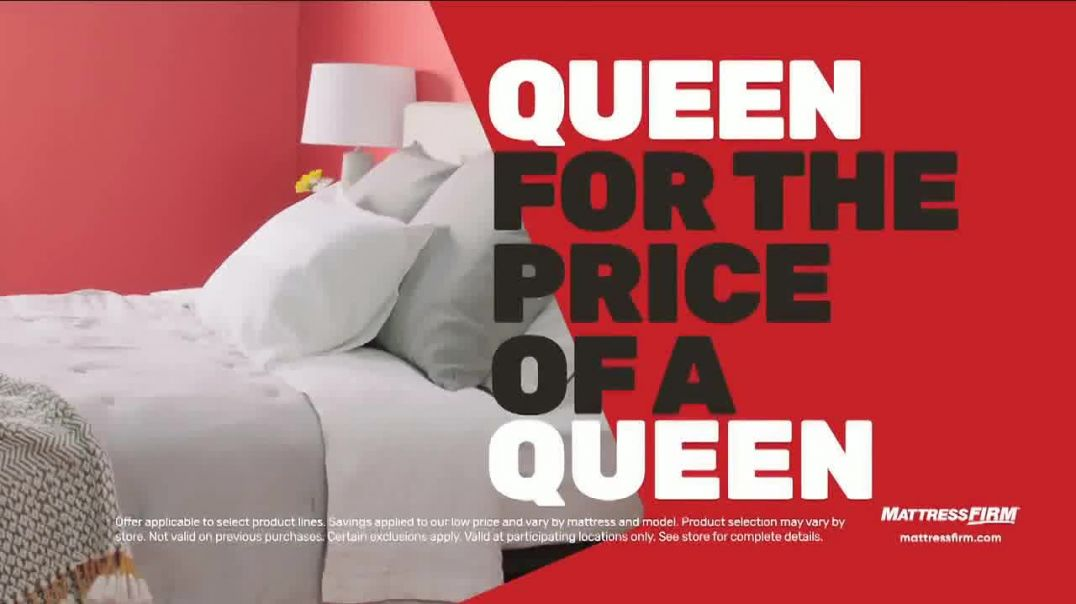 Mattress Firm Black Friday Sale TV Commercial Ad King for the Price of a Queen.mp4
