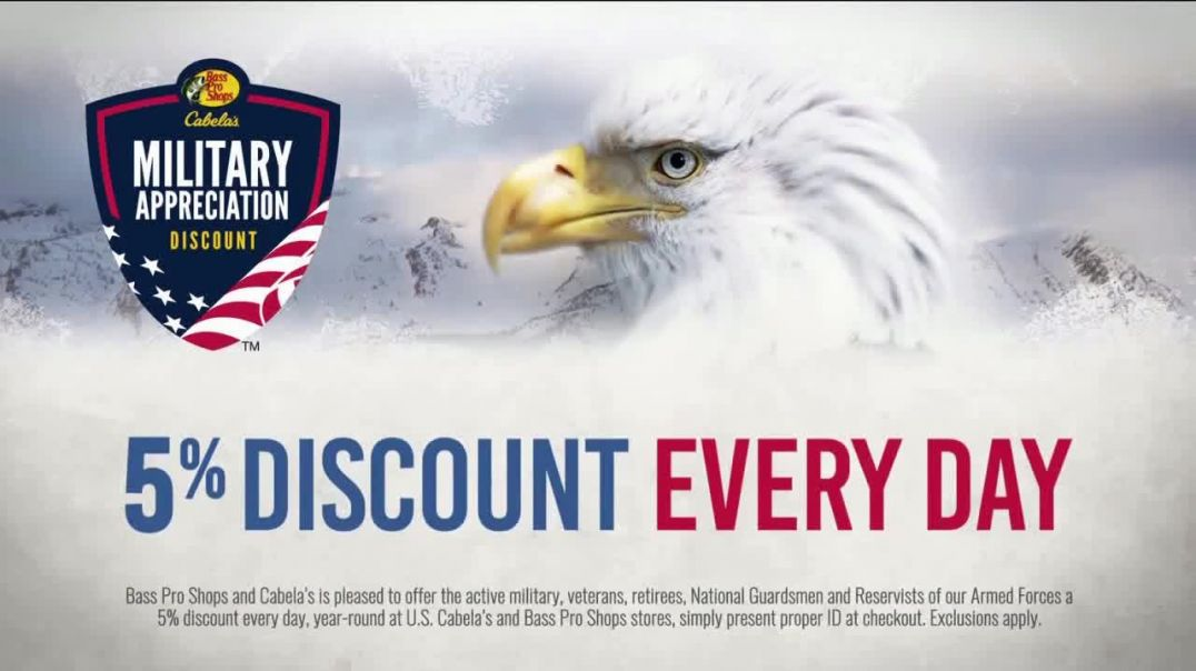 Bass Pro Shops Military Appreciation Discount TV Commercial Ad We Salute You.mp4