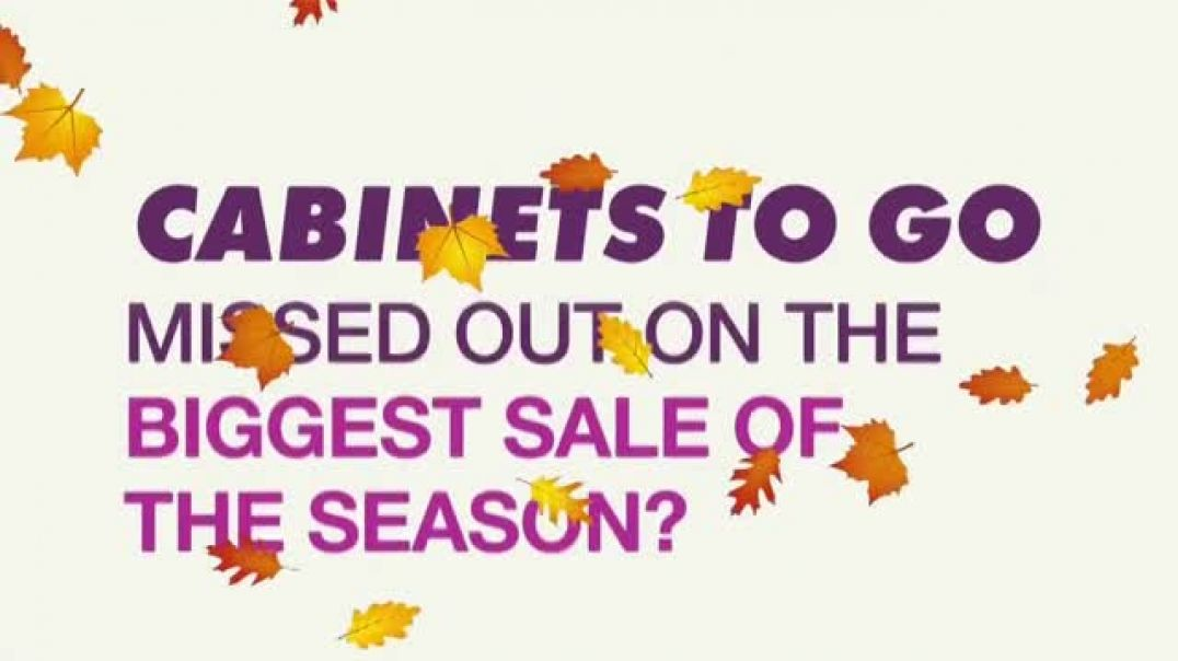 Cabinets To Go Annual Fall Kitchen Makeover Sale TV Commercial Ad Extended.mp4